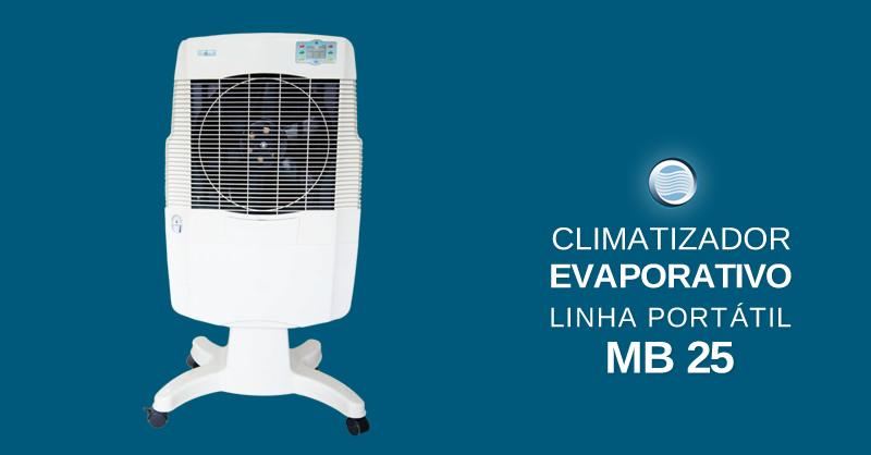 Climatizador evaporativo linha port til mb 25 sistemas - Climatizador evaporativo portatil ...