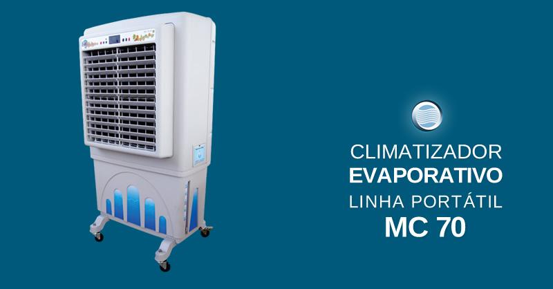 Climatizador evaporativo linha port til mc 70 sistemas - Climatizador evaporativo portatil ...